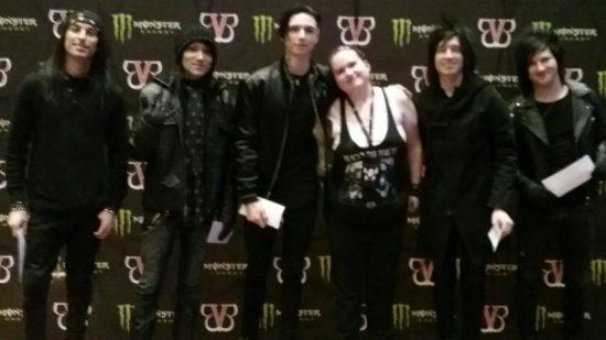 The resurrection tour a concert review of crown the empire asking they dropped me off at the correct time for the meet and greet here i am in line for the meet and greet pic and my meet and greet to meet bvb pic m4hsunfo